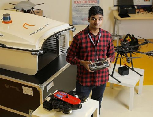 Engineering grad takes leap of faith with drone company